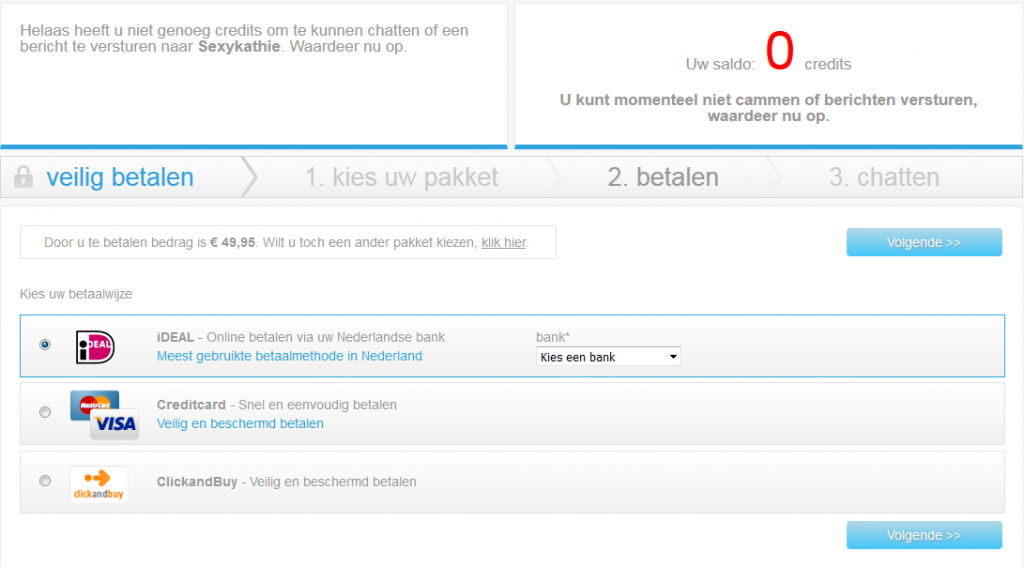 islive betaalpagina screenshot