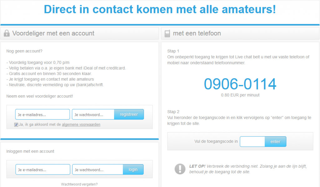 islive registratie screenshot