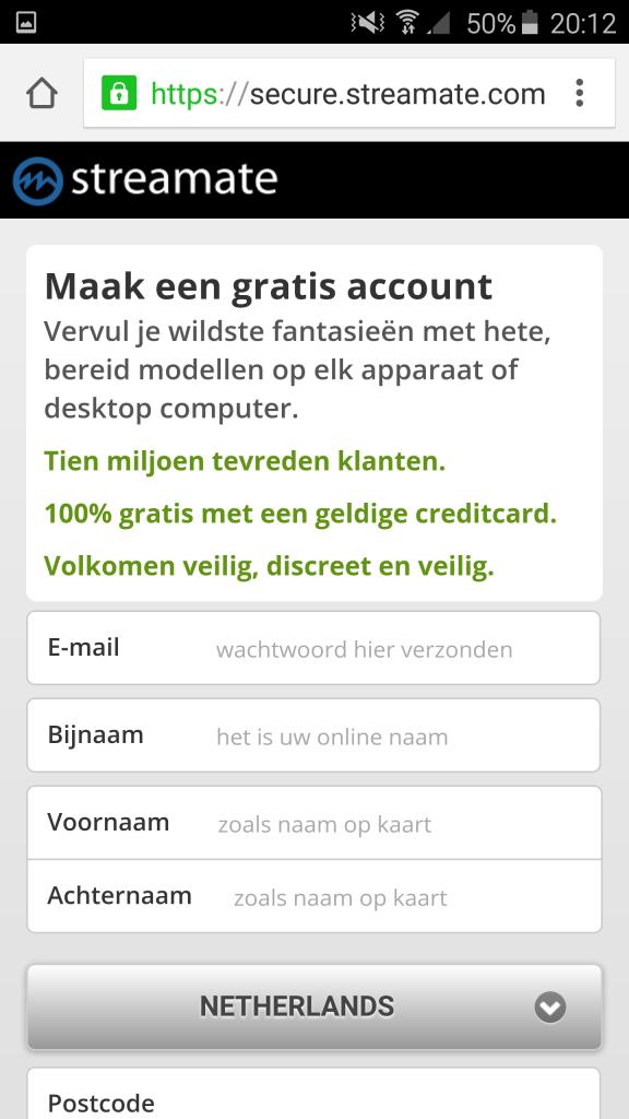 mobile register streamate