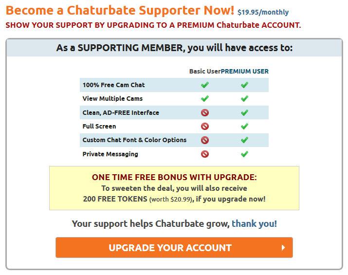 chaturbate supporter